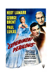 EXPERIMENT PERILOUS  US poster  from left: Hedy Lamarr  George Brent  Paul Lukas  1944
