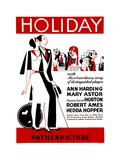 HOLIDAY  poster art  1930