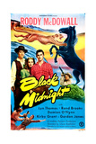 BLACK MIDNIGHT  US poster  middle from left: Damian O'Flynn  Lyn Thomas  Roddy McDowall  1949