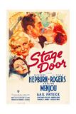 STAGE DOOR  from bottom left: Gail Patrick  Ginger Rogers  Adolphe Menjou  Katharine Hepburn  1937