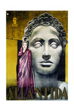 L'ATLANTIDE  (aka MISTRESS OF ATLANTIS  aka ATLANTIDA)  Brigitte Helm on Italian poster art  1932