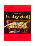 BABY DOLL  Carroll Baker on US poster art  1956