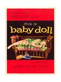 Baby Doll  Carroll Baker on US poster art  1956