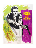 DR NO  Sean Connery on French poster art  1962