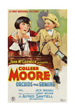 ORCHIDS AND ERMINE  l-r: Colleen Moore  Mickey Rooney on poster art  1927