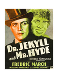 DR JEKYLL AND MR HYDE  Poster Art featuring Fredric March on window card  1931
