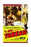 THE NEW ADVENTURES OF TARZAN  center: Herman Brix  far right top: Herman Brix  1935