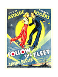 FOLLOW THE FLEET  from left: Ginger Rogers  Fred Astaire on window card  1936