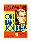 ONE MAN'S JOURNEY  Lionel Barrymore on midget window card  1933