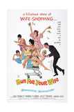 RUN FOR YOUR WIFE  (aka UNA MOGLIE AMERICANA)  US poster  1965
