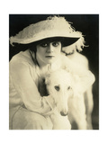 Theda Bara with her Russian wolfhound  Belva  1916