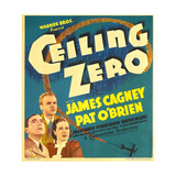 CEILING ZERO  from left: Pat O'Brien  James Cagney  June Travis on window card  1936