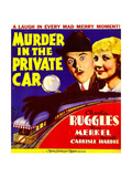MURDER IN THE PRIVATE CAR  from left: Charles Ruggles  Una Merkel on window card  1934