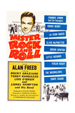 MISTER ROCK AND ROLL  top left: Alan Freed  bottom right: Little Richard with his band  1957