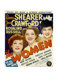 THE WOMEN  from left: Joan Crawford  Norma Shearer  Rosalind Russell on window card  1939