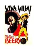 VIVA VILLA!  left and far right: Wallace Beery on window card  1934