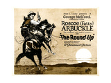 THE ROUND-UP  Roscoe 'Fatty' Arbuckle on 'Title card' to lobby card set  1920