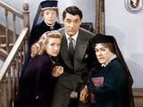 ARSENIC AND OLD LACE  from left: Priscilla Lane  Jean Adair (back)  Cary Grant  Josephine Hull