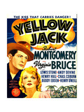 YELLOW JACK  from left: Robert Montgomery  Virginia Bruce on window card  1938