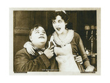 THE ROUGH HOUSE  from left: Roscoe 'Fatty' Arbuckle  Alice Lake in a scene card dated 1919  1917