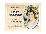 THE INFORMER  Mary Pickford on a re-issue title card (circa 1920s)  1912