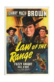 LAW OF THE RANGE  from left: Nell O'Day  Johnny Mack Brown  Fuzzy Knight  1941