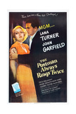 POSTMAN ALWAYS RINGS TWICE  THE  Lana Turner  John Garfield  1946  poster art
