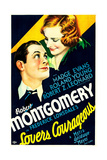 LOVERS COURAGEOUS  US poster art  from left: Robert Montgomery  Madge Evans  1932