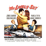 THE LIVELY SET  from left: Doug McClure  James Darren  Pamela Tiffin  Joanie Sommers  1964