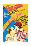 A FREE SOUL  from left on US poster art: Leslie Howard  Norma Shearer  1931