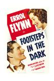 FOOTSTEPS IN THE DARK  from left: Errol Flynn  Brenda Marshall  1941