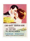 AN AFFAIR TO REMEMBER  l-r: Cary Grant  Deborah Kerr on US poster art  1957