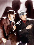 THE HOUND OF THE BASKERVILLES  from left: Nigel Bruce  Basil Rathbone  1939
