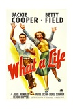WHAT A LIFE  from left: Jackie Cooper  Betty Field  1939