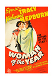 WOMAN OF THE YEAR  (poster art)  Spencer Tracy  Katharine Hepburn  1942
