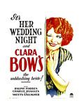 HER WEDDING NIGHT  Clara Bow on window card  1930