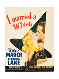 I MARRIED A WITCH  l-r: Veronica Lake  Fredric March on window card  1942