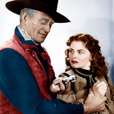 RED RIVER  from left: John Wayne  Joanne Dru  1948
