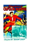 THE ADVENTURES OF CAPTAIN MARVEL  left: Tom Tyler in 'Chapter 10: Doom Ship'  1940