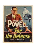 FOR THE DEFENSE  William Powell (front)  Kay Francis  1930