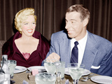 Marilyn Monroe with her second husband  Joe DiMaggio  1954