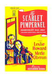 THE SCARLET PIMPERNEL  British ad art  from left: Leslie Howard  Merle Oberon  1934