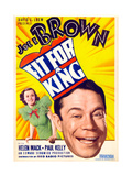 FIT FOR A KING  US poster art  from left: Helen Mack  Joe E Brown  1937