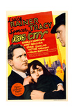 BIG CITY  from left: Spencer Tracy  Luise Rainer on midget window card  1937