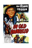 IN OLD AMARILLO  US poster  from left: Estelita Rodriguez  Roy Rogers  1951
