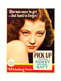 PICK-UP  Sylvia Sidney on midget window card  1933