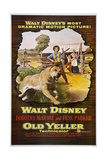 OLD YELLER  from left: Old Yeller  Tommy Kirk  Kevin Corcoran  Dorothy McGuire  1957