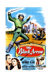 THE BLACK ARROW  US poster  bottom left from left: Louis Hayward  Janet Blair  1948