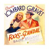 FOOLS FOR SCANDAL  US poster art  from left: Carole Lombard  Fernand Gravet  1938