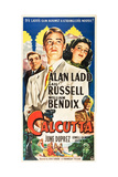 CALCUTTA  l-r: William Bendix  Alan Ladd  Gail Russell on US poster art  1947
